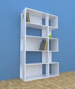 3D modern bookcase