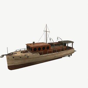3D classic 1929 pilot-house cruise model