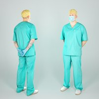 Handsome surgical doctor with a mask 48