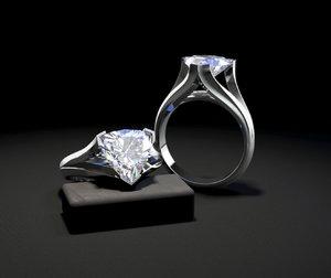 3D jewellery ring stone