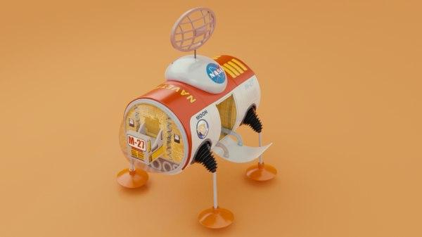 3D model space capsule toy
