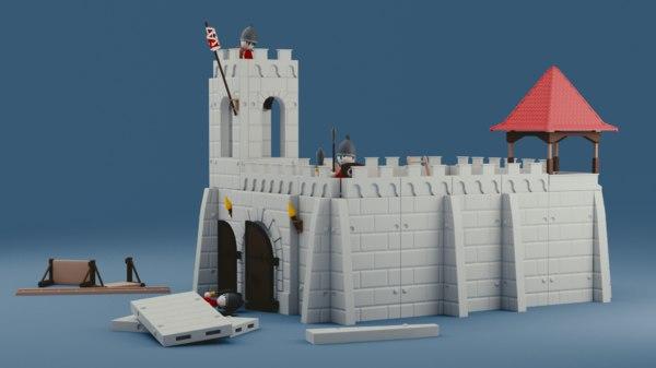 castle toy 3D model
