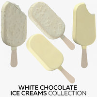 white chocolate ice creams 3D model