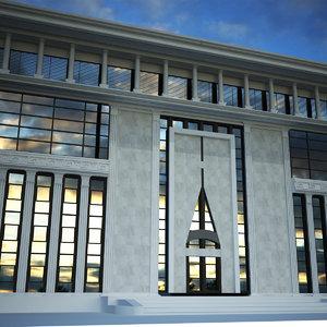 3D model municipal building