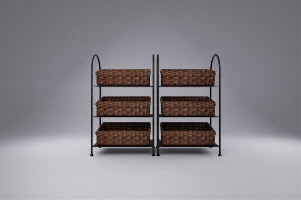 rack baskets 3D
