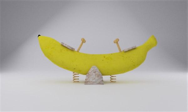banana seesaw 3D model