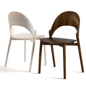 sana chair wood 3D model