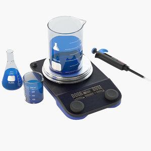laboratory mixer 3D model