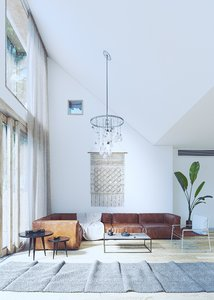 coronarender interior scene 3D model