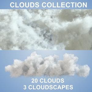 20 pack clouds 3D