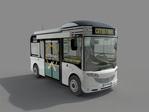 3D model electric bus