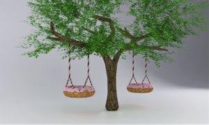 3D doughnut swing tree