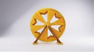 3D orange giant wheel model