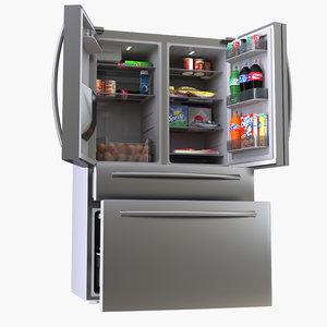 refrigerator samsung 3D