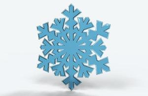 3D realistic snowflake