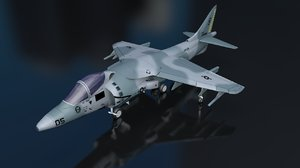 3D model harrier av 813 aircraft