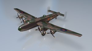 handley page halifax biii 3D model