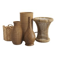 Wicker Baskets and Side table
