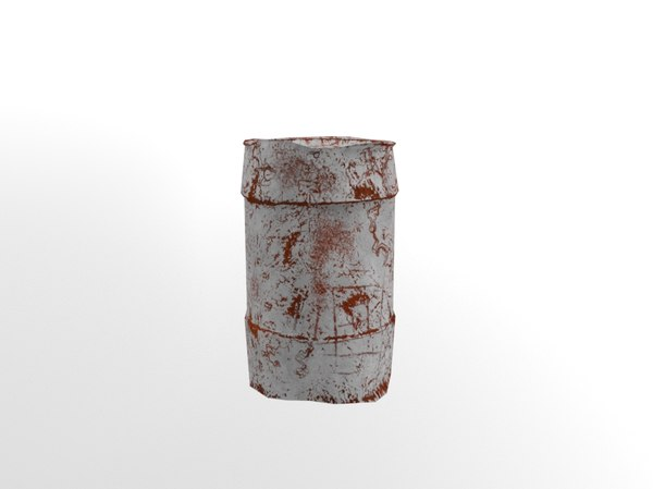 3D rusty waste oil drums model
