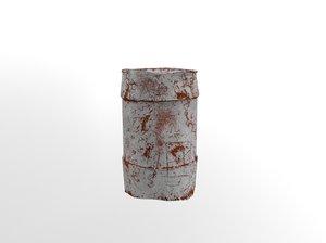 3D rusty waste oil drums model
