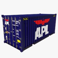 shipping container apl 3D model