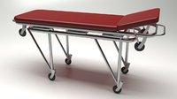 3D ambulance stretcher model