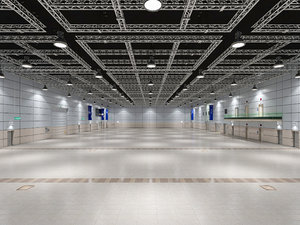 exhibition hall interior 8 3D model