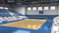 School Gym  Volleyball Court