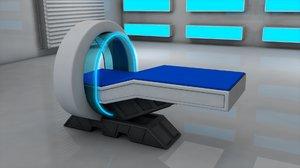 3D sci fi medical scanner