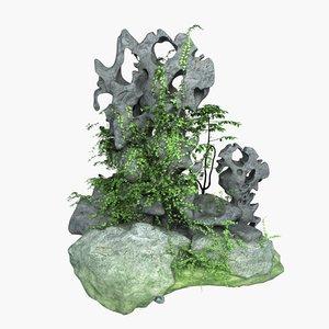 stone vine 3D model
