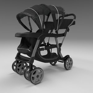 3D model baby stroller