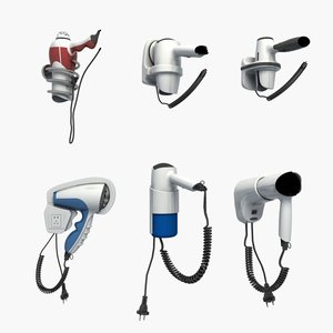 hairdryer hair dryer 3D