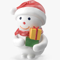 3D snowman figurine gifts model