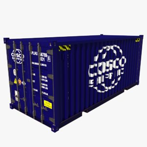 3D shipping container cosco model