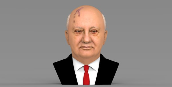 3D model mikhail gorbachev bust ready