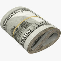 3D roll stack dollars