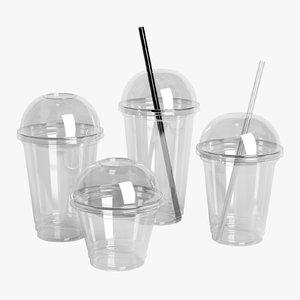3D plastic cups set