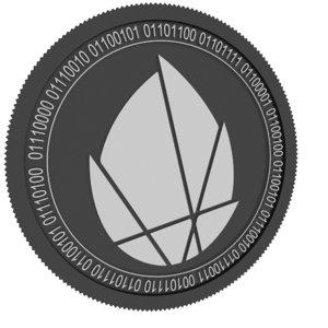 cocos bcx black coin 3D
