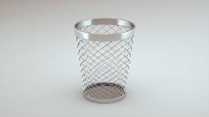 3D wastepaper basket