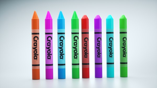 3D pensil crayola model
