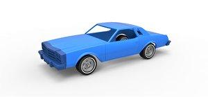 diecast shell car 3D model