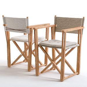 3D chair teak