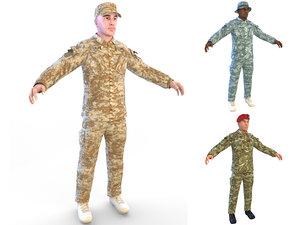 soldier 4k 3D model