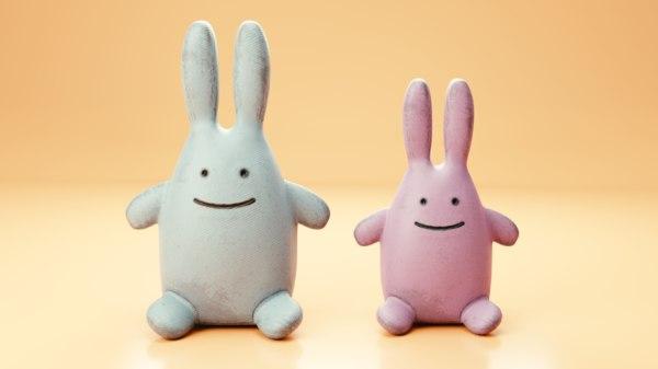 rabbit plush 3D model