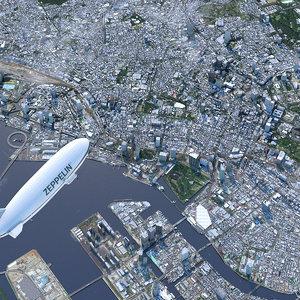 tokyo city building 3D model