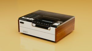 old video recorder 3D