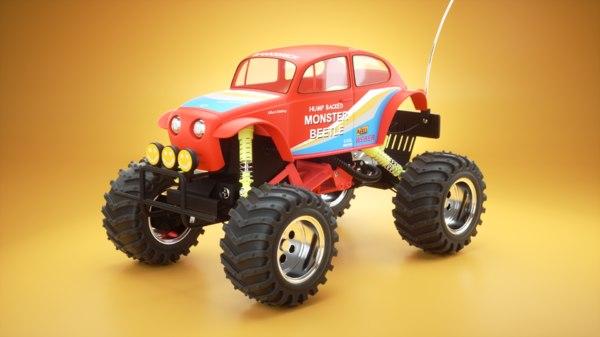 monster beetle toy model