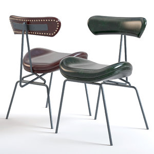 3D vintage elle dining chair