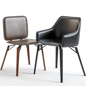 iki chairs 3D model