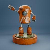 robot metallic 3D model